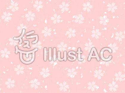 白い桜柄 ピンク背景