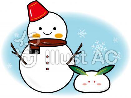 雪だるまと雪うさぎ