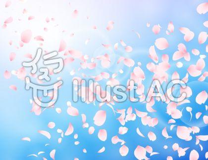 桜吹雪_水色_ピンク