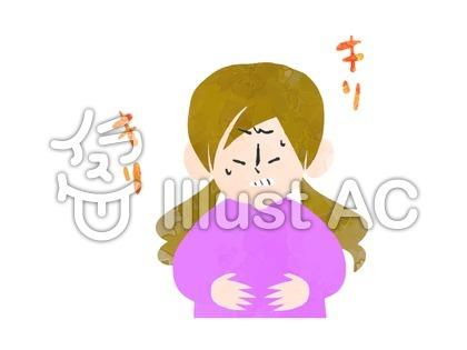 胃が痛い女性