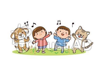 犬、猫、子供、つくしんぼ