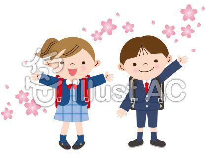 桜と入学式
