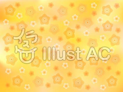 桃の花(背景・オレンジ)