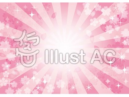 集中線効果線きらきらキラキラ星桜春花背景