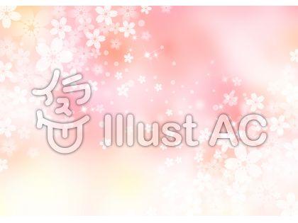 桜_ピンク背景