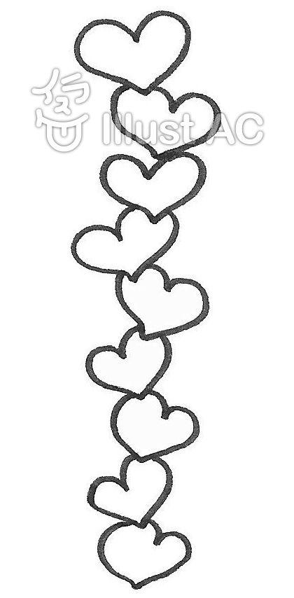 ハート 縦にたくさん♡ hearts