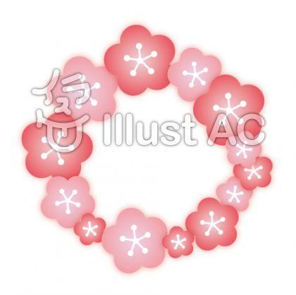 梅の花の輪