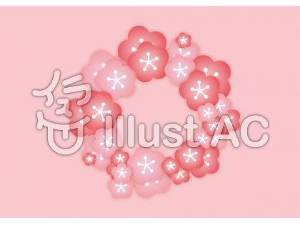 梅の花の輪背景