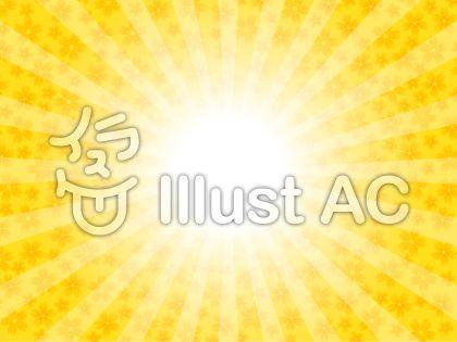太陽と桜の花イメージ(黄色)