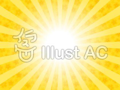 太陽と桜の花イメージ(黄色・はっきり)