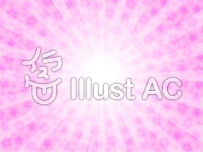 太陽と桜の花イメージ(ピンク・ぼかし)