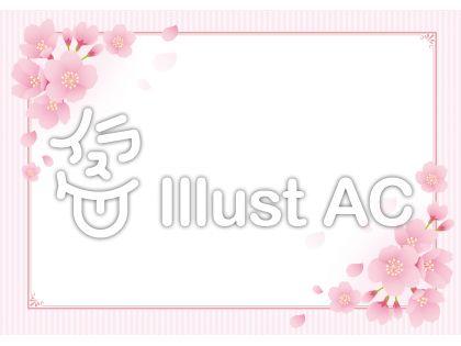 桜 飾り枠