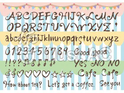 手描き文字アルファベット