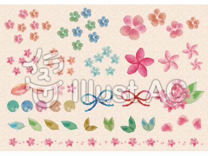 飾りの素材080 春の花