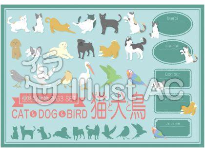 人気の動物装飾<猫・犬・鳥>