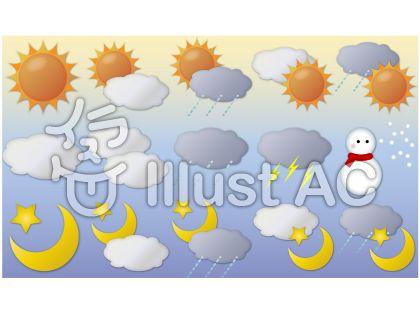 天候セット(PNG透過)