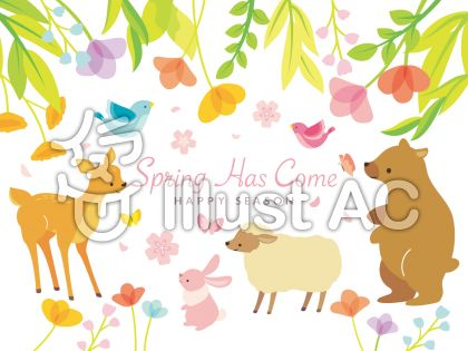 春のイラストセット(5)