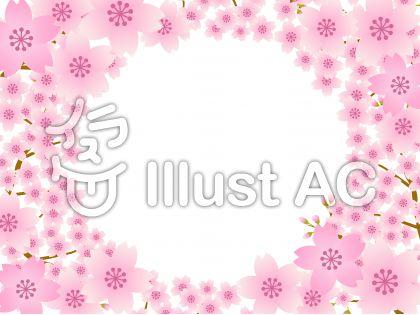 70316.桜のフレーム1