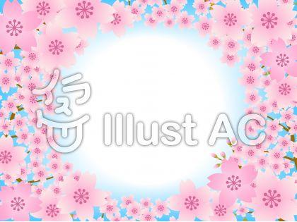 70316.桜のフレーム3