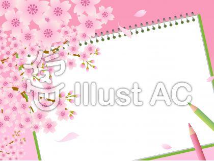 70316.桜とスケッチブック1