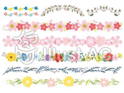 桜など花のライン色々