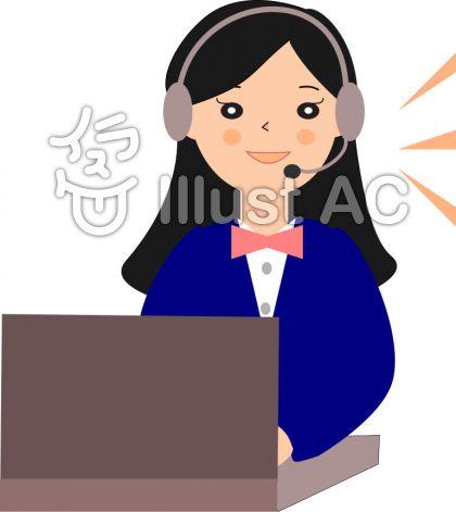 電話応対 女性オペレーター01