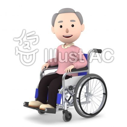 車いすの老人05