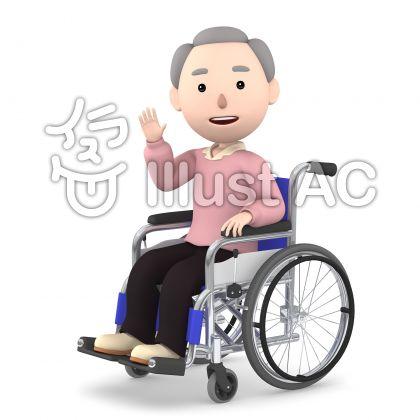 車いすの老人07
