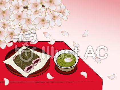 和風 桜と桜餅