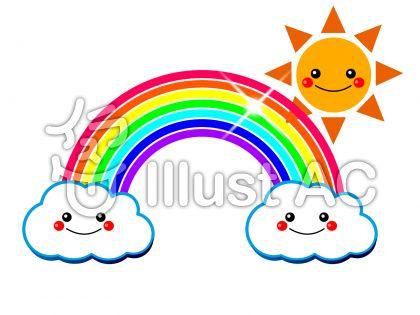雲と虹と太陽