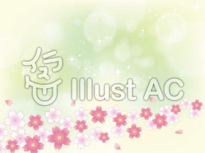 春ふわふわした桜背景素材03