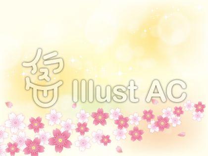 春ふわふわした桜背景素材04