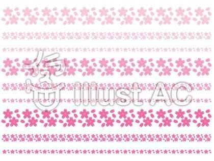 罫線-桜色3種