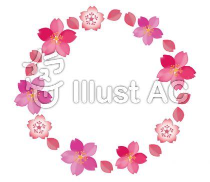 桜の花の輪