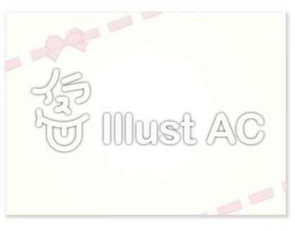 リボン飾りのカード 桜色
