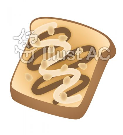 チョコを塗ったトースト