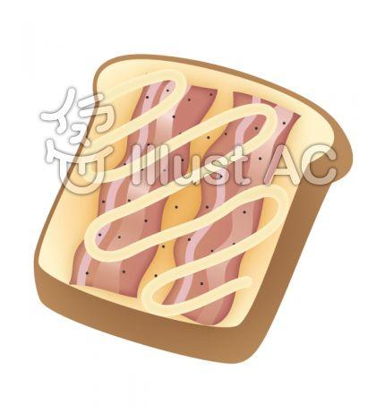 ベーコンのせトースト