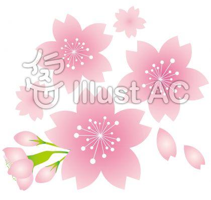 桜さくらサクラ春花アイコンピンク色季節感