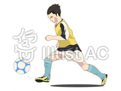 人物-男の子-サッカー