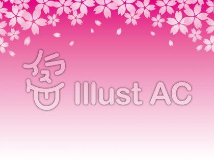 桜のフレーム(ピンク)