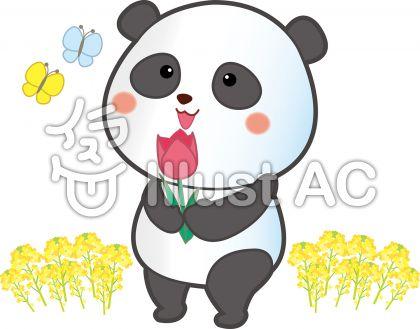 春のパンダ