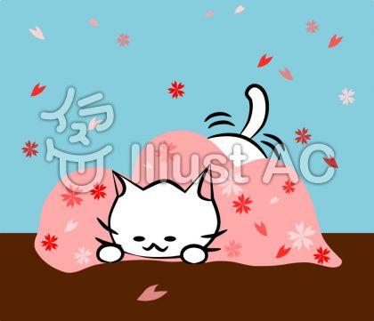 にゃんこさん桜ハンティング