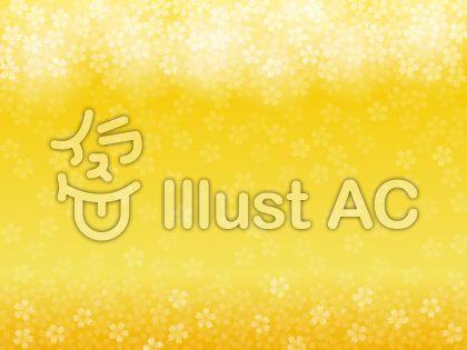黄色・桜背景(上下フレーム)