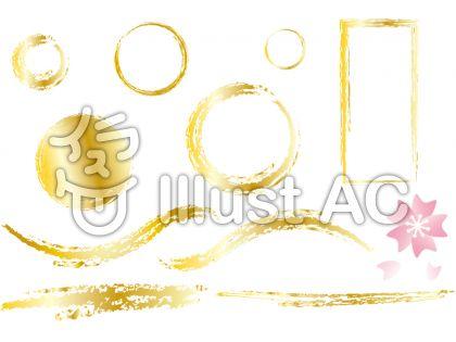 金の枠と桜