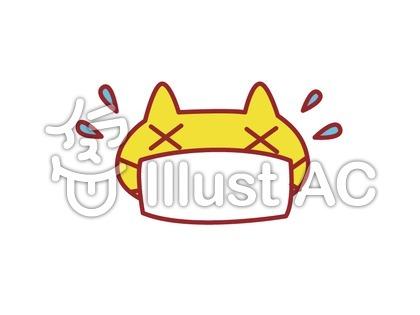 マスクをした猫