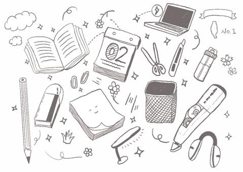 Hand drawn stationery illustration
