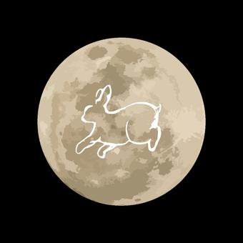 中秋节月亮与兔子型板