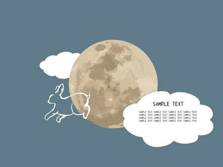 月亮与兔子型板