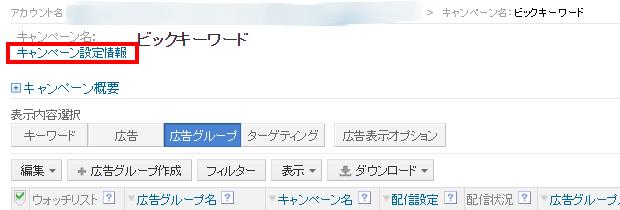 Yahoo!の広告配信設定方法