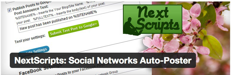 NextScripts is another plugin that you can use to auto-share your posts to various social media sites.
